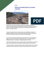 Las lluvias y los caminos rurales