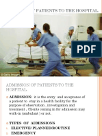 Admission and Discharge
