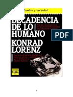 Lorenz Konrad - Decadencia De Lo Humano.pdf