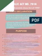 PEZA summary chapter 1
