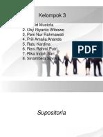 Kelompok 3 Supositoria
