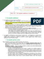 Fiche 1113 - Des inégalités multiformes et cumulatives ?