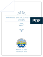Microbial Enhanced Oil Recovery (Meor)