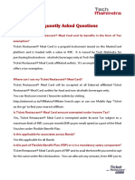 FAQs-Meal Card India -TM