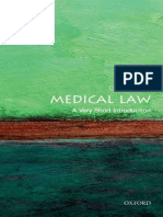 Medical Law_ a Very Short Introduction (Very Short Introductions)