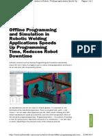 Offline Programing and Simulation in Robotic Welding