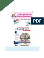 Disha Publication English Supplement