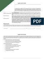 Supplier Audit Checklist