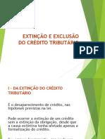 EXTINÇÃO DO CRÉDITO TRIBUTÁRIO(3)