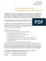 Information Handling Form