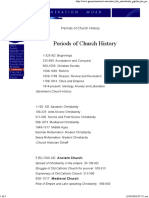Periods of Church History