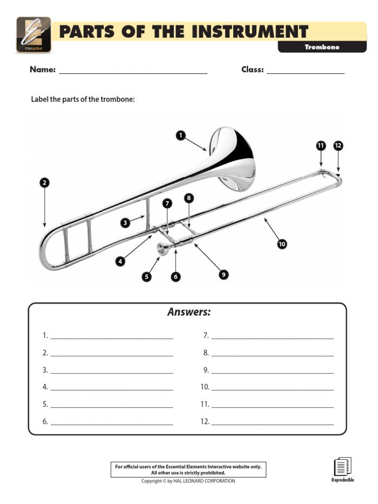 Parts of the Instrument - Trombone pdf