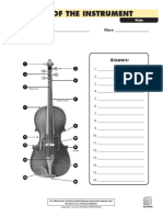 Parts of the Instrument - Viola