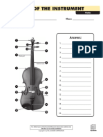 Parts of the Instrument - Violin