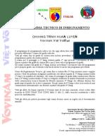 Programma Vovinam UVVVDITA - Completo