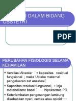 Anestesi Dalam Bidang Obstetri