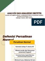Anestesi Dan Analgesia Obstetrik 1(Epidural)