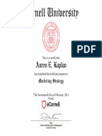 Marketing Strategy - Cornell University - Johnson Graduate School of Management