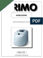 Primo Bread Machine  Manual