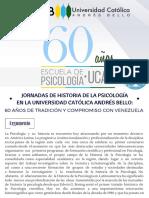 Convocatoria - Jornadas 60 Años Escuela de Psicología UCAB