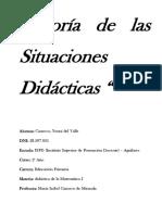 Teoría de Las Situaciones Didáctica CARATULA