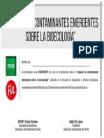 CERTIFICADO Disertante Contaminantes Emergentes