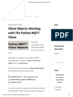 Client Objects-Working With the Python MQTT Client