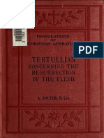 TCL - Tertullian, Concerning the Resurrection of the Flesh