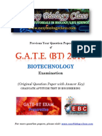 GATE BT 2010 Biotechnology Solved Question Paper PDF