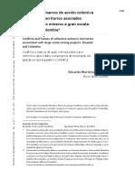 Conflictos y marcos de acción colectiva sobre y por territorios asociados con proyectos mineros a gran escala