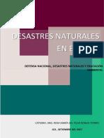 Trabajo Defensa 1 Desastres Naturales en El Perú 1