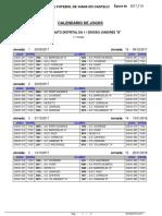 Calendário 1. Divisão Juniores B