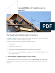 Rights and Responsibilities of Contractors in Enterprise Contracts