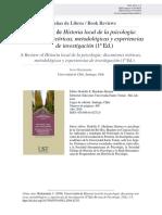 Reseña de Libro Argentino Sobre Historia