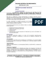 Especificaciones Tecnicas Andaymarca - Agua - Ok Final