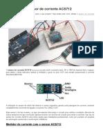 Como Usar o Sensor de Corrente ACS712
