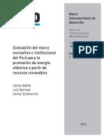 Energias Renovables Evaluación BID