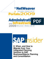 How to Migrate from Your Integrated Planning Solution to SAP BusinessObjects