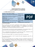 Syllabus of the Government and IT Service Management Course