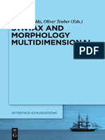 Syntax and Morphology Multidimensional - Nolda & Teuber - Mouton de Gruyter