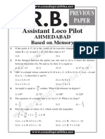 RRB Ahmedabad Loco_Pilot Exam 2010- Solved Paper With Key