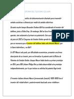 Historia Del Telefono Celular- Ernesto m