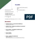 Syllabus Fisico Metalurgica