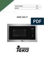 Manual Microndas Teka MWE250FI