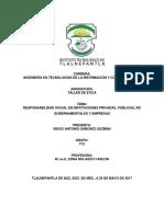 Responsabilidad Social en Instituciones Privadas, Públicas, No Gubernamentales y Empresas