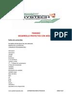 Temario Systech Desarrollo Proyectos Con Arduino