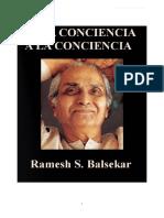 Balsekar Ramesh - De La Conciencia a La Conciencia