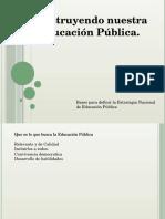 Presentación Construccion de La Educacion Publica