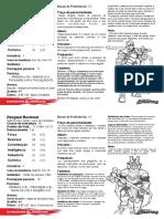 D&D 5.0 - Fichas de Personagens Para Eventos - Taverna Do Elfo e Do Arcanios