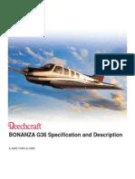 Bonanza G36 Specification and Description E-4063 Thru E-4080